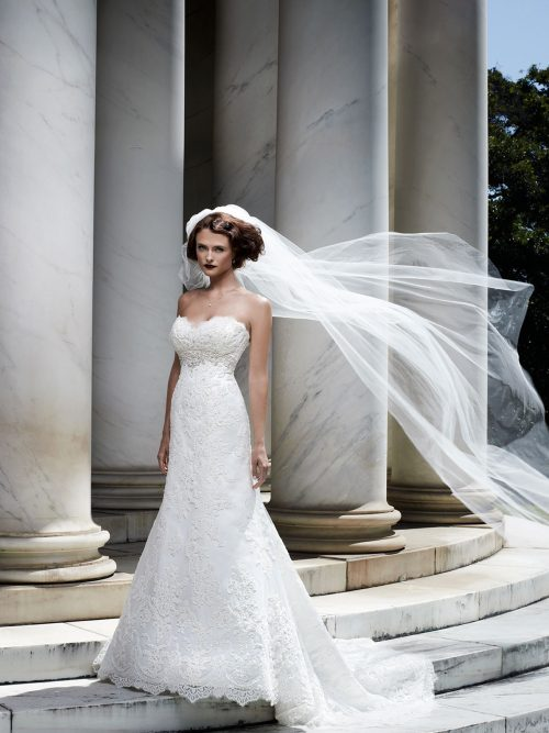 2072 Casablanca Fit and Flare Bridal Gown-cf