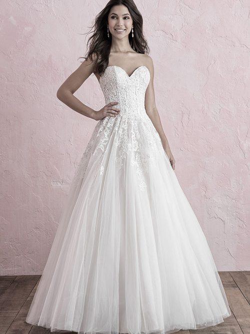 270 Allure Romance strapless tulle wedding dress