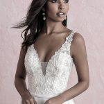3271 beaded floral appliques wedding dress