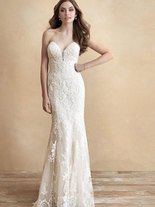 3307 Allure Romacne sheath silhouette wedding dress
