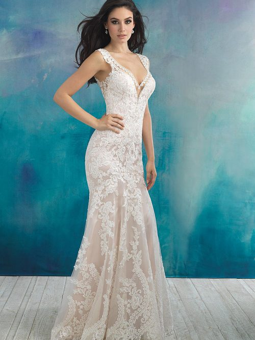 9513B allure bridals scoop back wedding dress