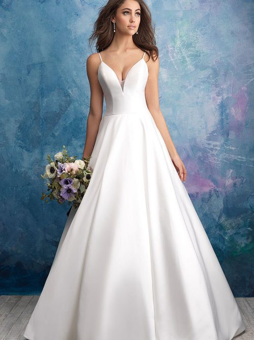 9570 Allure Bridals strappy ballgown
