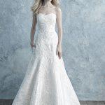 9675 Allure Bridals strapless Mikado wedding dress