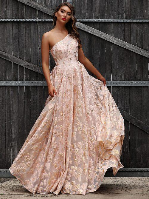 JX3025-Pink Jadore Bridesmaid Dress
