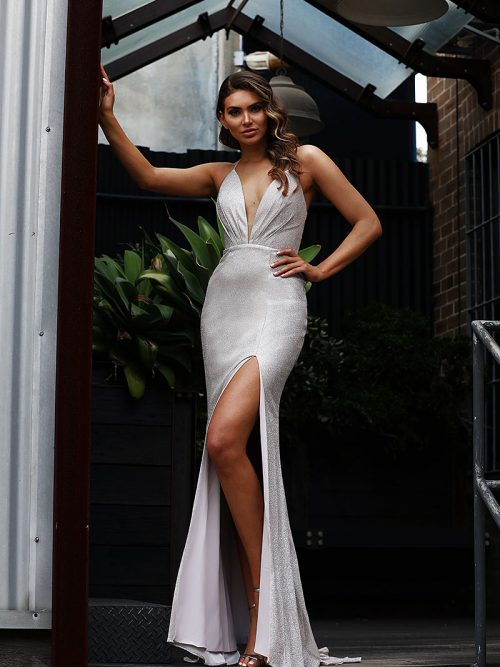 JX3082 Silver Jadore Bridesmaid Dress