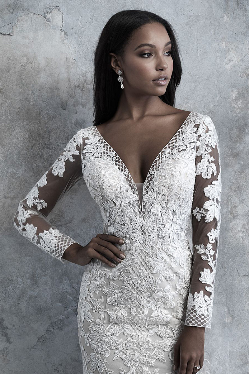 Madions James MJ511 long sleeved wedding dress