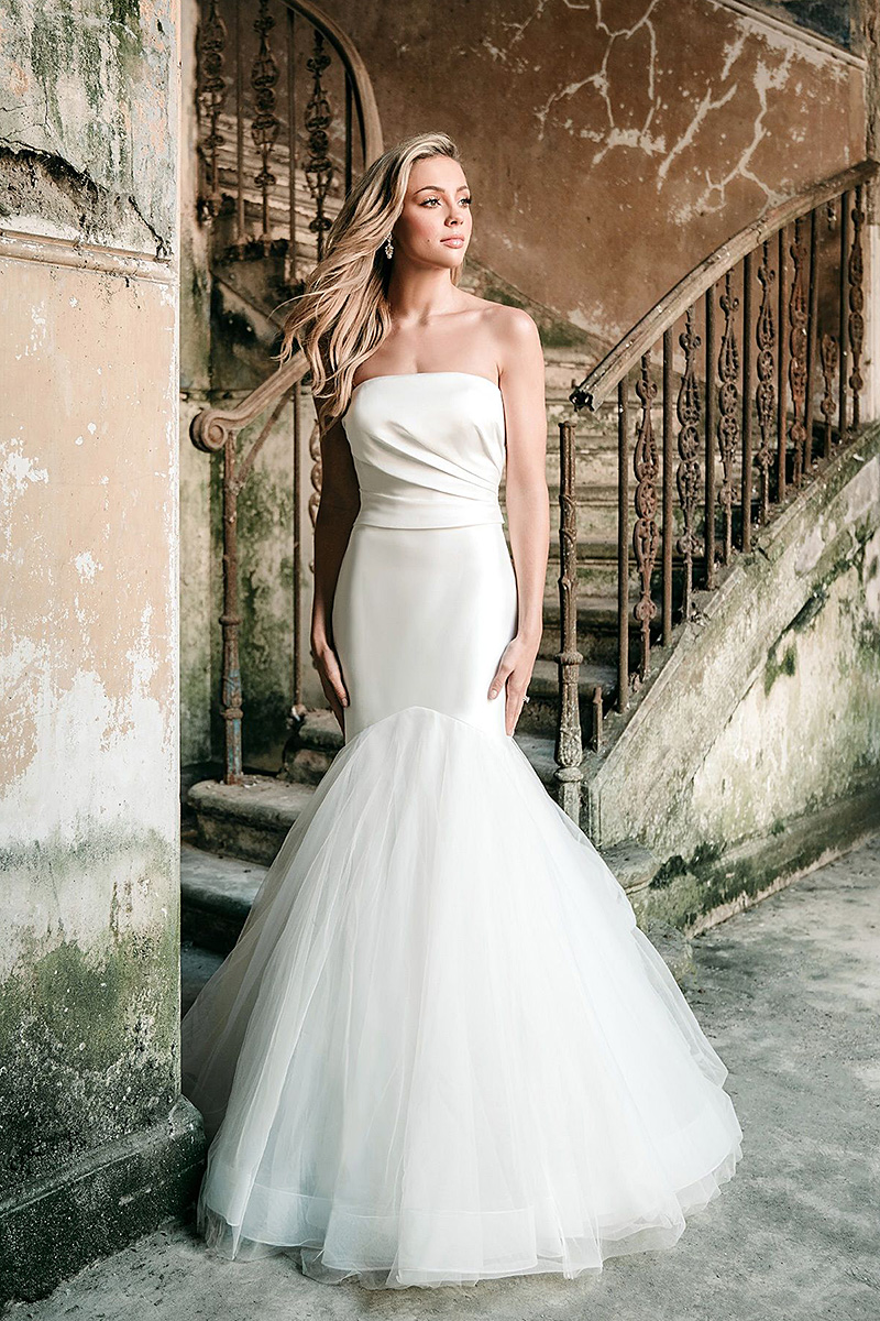 Madions James MJ624 strapless fit and flare wedding dress